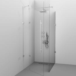 Cabina de dus Alux Glassline - Tip U - sticla securizata